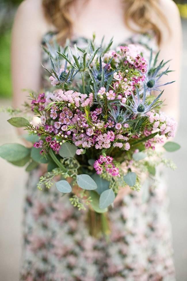Beautiful Wildflower Wedding Bouquet Ideas 1_