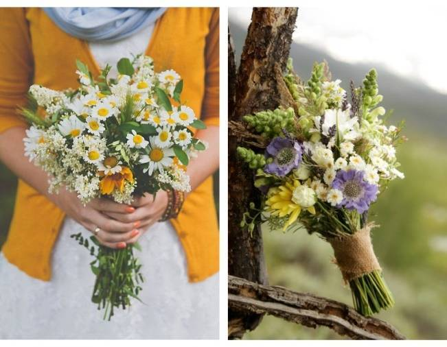 Beautiful Wildflower Wedding Bouquet Ideas 3