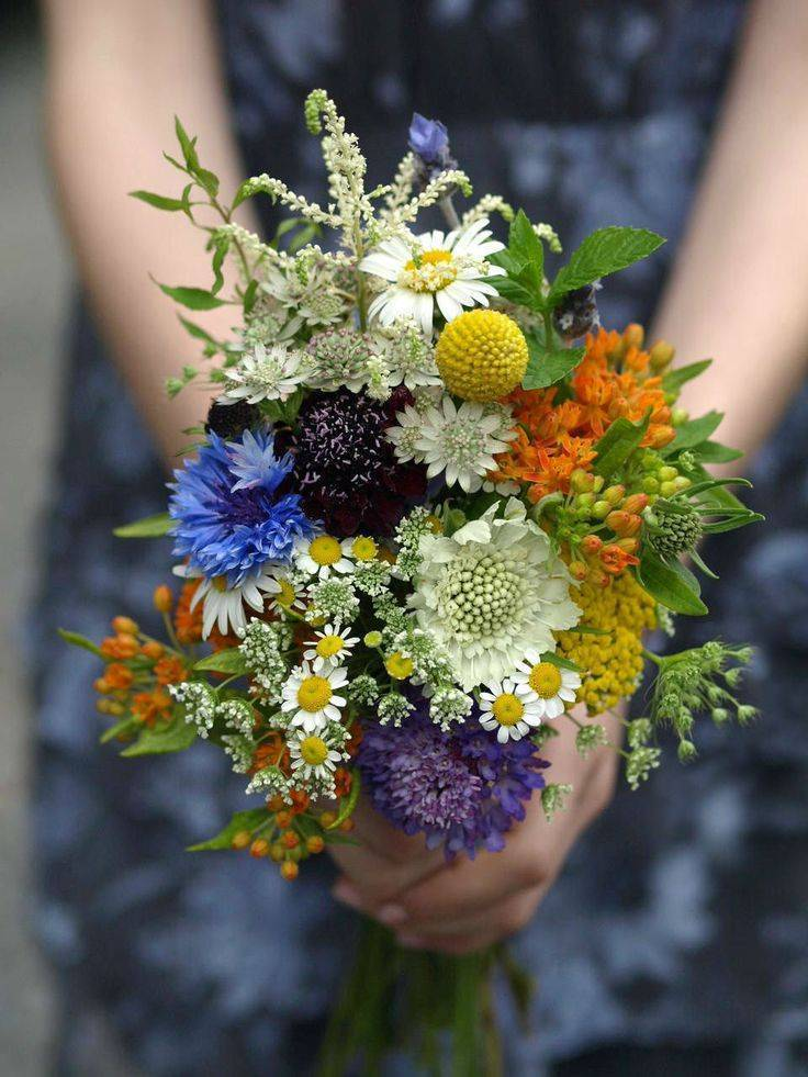Beautiful Wildflower Wedding Bouquet Ideas 4_