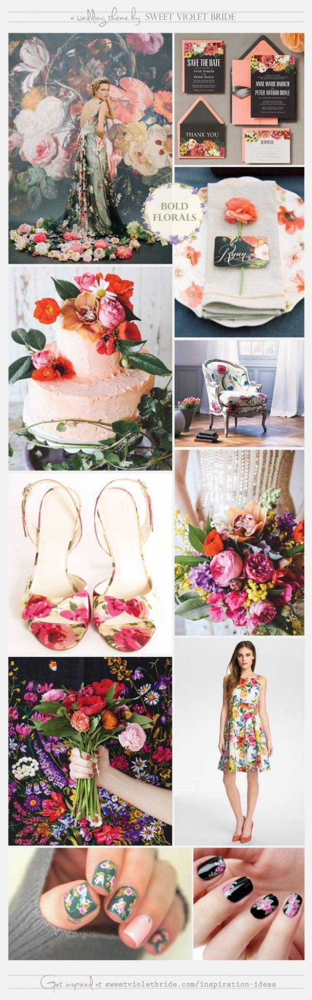 Wedding Inspiration Board #21: Bold Florals