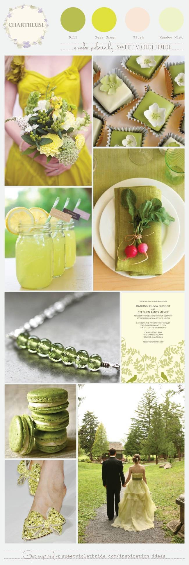 Chartreuse Color Palette - by Sweet Violet Bride