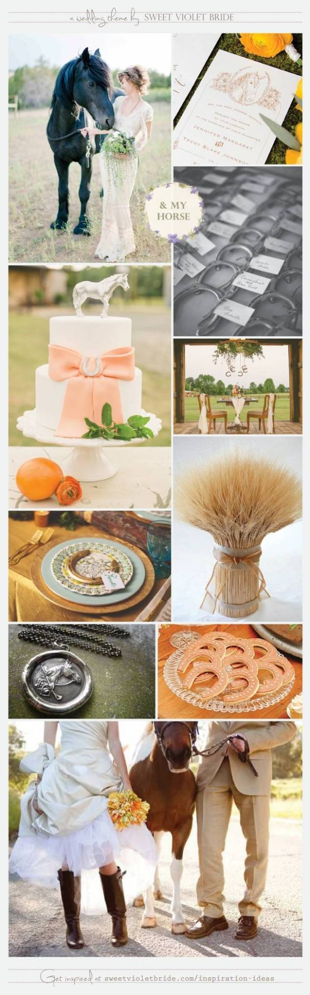 Equestrian, Horse Wedding Theme by Sweet Violet Bride