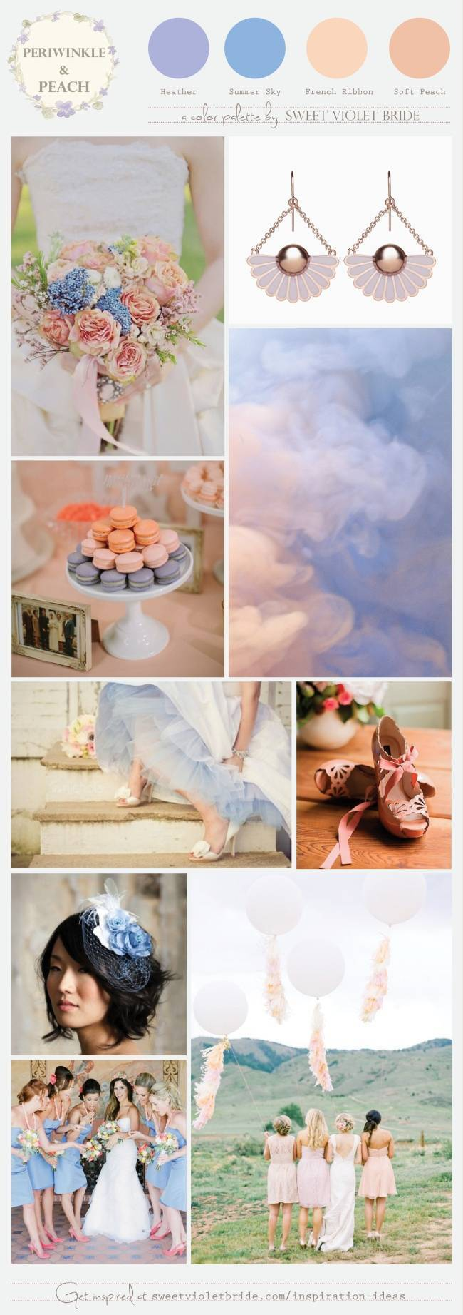 Wedding Color Palette: Peach & Periwinkle