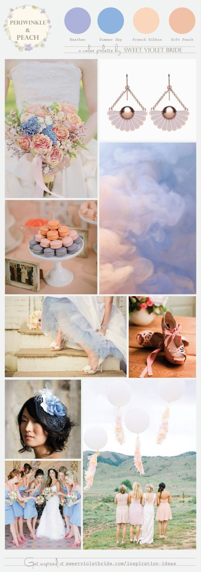 Peach + Periwinkle Color Palette