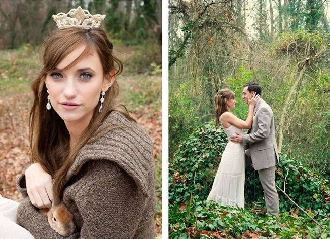 Rustic Snow White Wedding Inspiration Shoot 10
