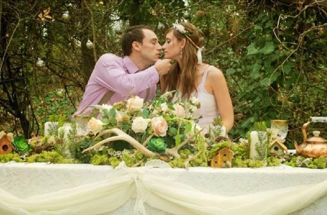 Rustic Snow White Wedding Inspiration Shoot 11