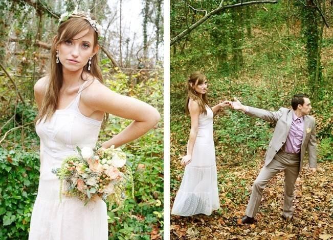 Rustic Snow White Wedding Inspiration Shoot 14