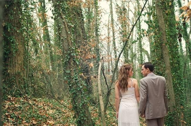 Rustic Snow White Wedding Inspiration Shoot 15