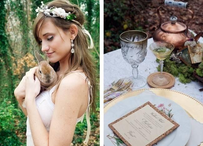 Rustic Snow White Wedding Inspiration Shoot 2
