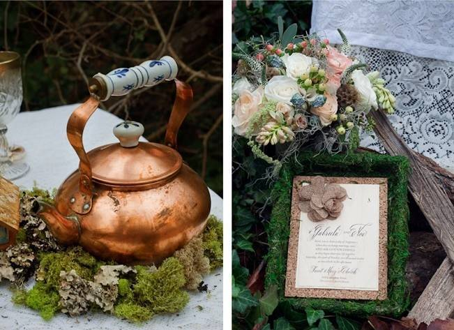 Rustic Snow White Wedding Inspiration Shoot 7