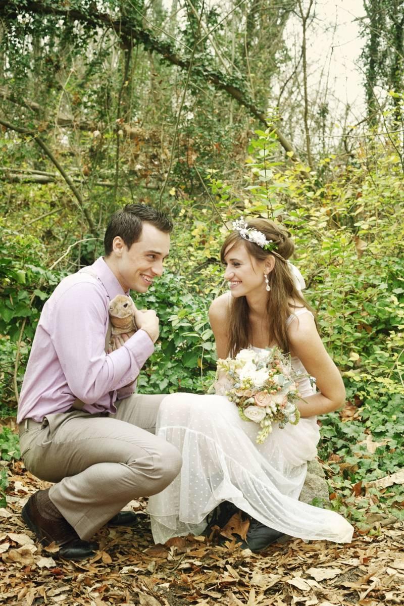 Rustic Snow White Wedding Inspiration Shoot 9