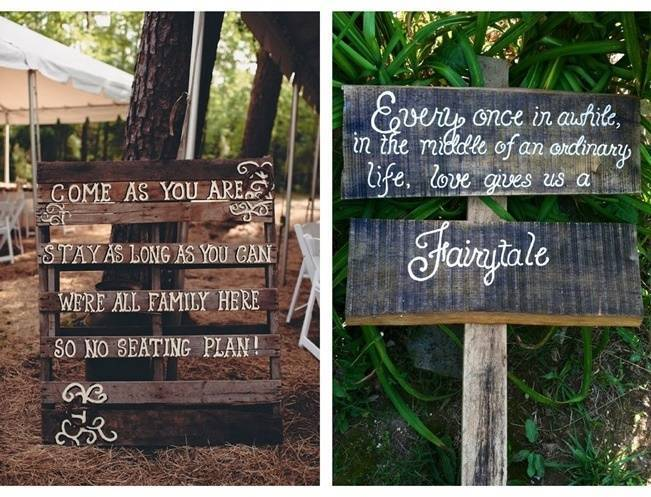 16 Awesome Rustic Wedding Signs 6