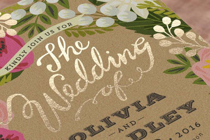 In Love with Foil-Pressed Wedding Stationery from Minted + GIVEAWAY!