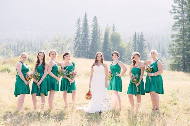 Rustic Canadian Mountain Wedding {Milton Photography}