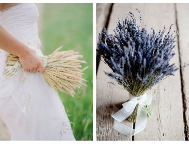 Rustic Dried Flower Wedding Bouquet Inspiration 2