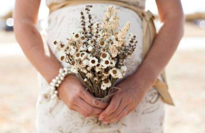 Rustic Dried Flower Wedding Bouquet Inspiration 7