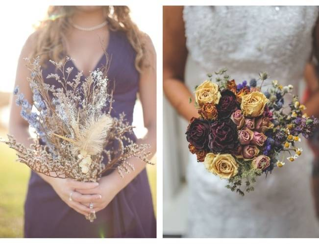 rustic dried flower arrangements images