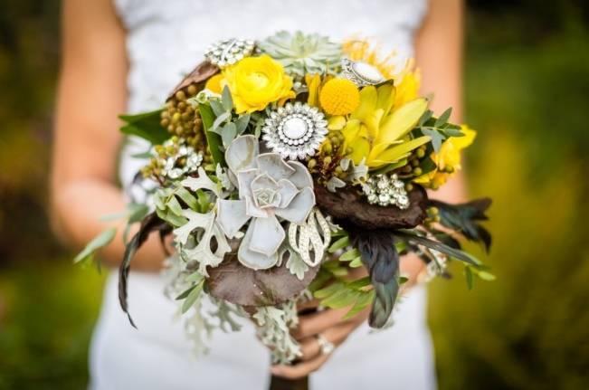 Yellow + Gray Garden Styled Wedding {Carina Photographics}