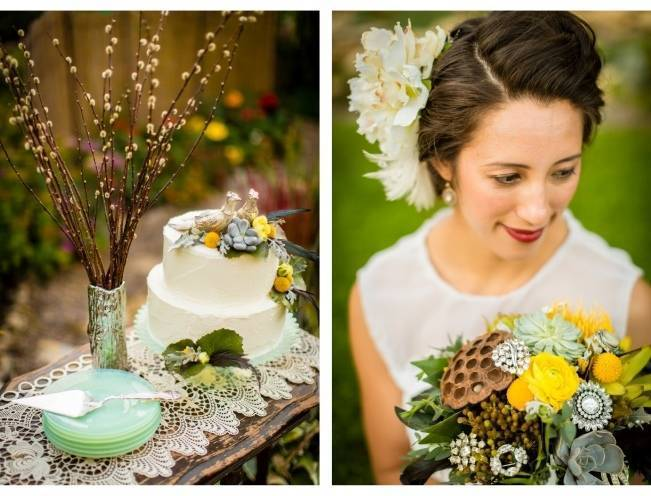 Vintage-Inspired Yellow Garden Styled Wedding {Carina Photographics} 12