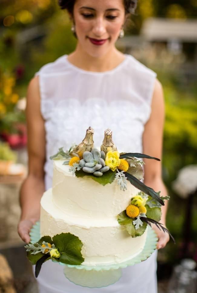 Vintage-Inspired Yellow Garden Styled Wedding {Carina Photographics} 9
