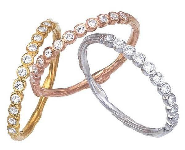 Eleven wishes diamond wedding rings