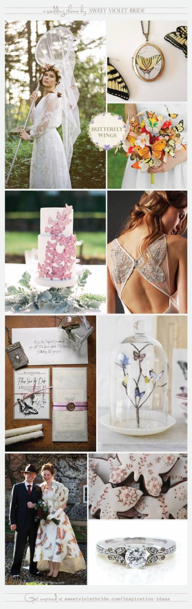 Wedding Inspiration Board #24: Butterfly Wings