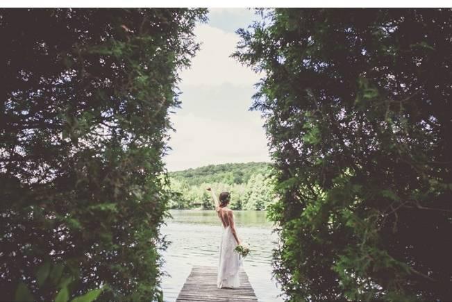 Charming DIY Woodsy Wedding {Bonnallie Brodeur Photography} 11