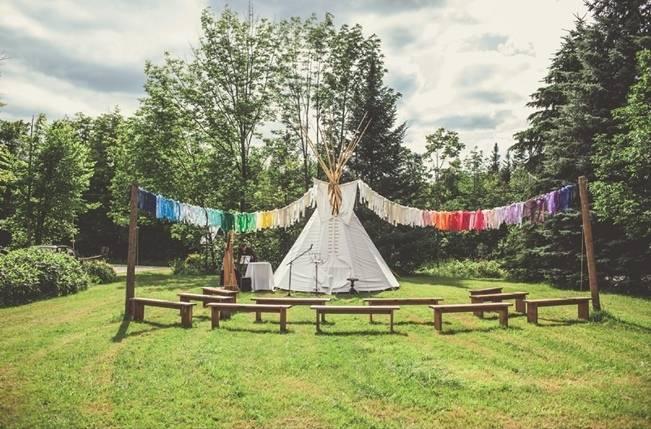 Charming DIY Woodsy Wedding {Bonnallie Brodeur Photography} 15
