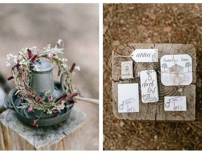 Enchanted Forest Styled Wedding Shoot {Yolande Marx} 2