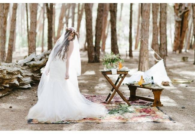 Enchanted Forest Styled Wedding Shoot {Yolande Marx} 8