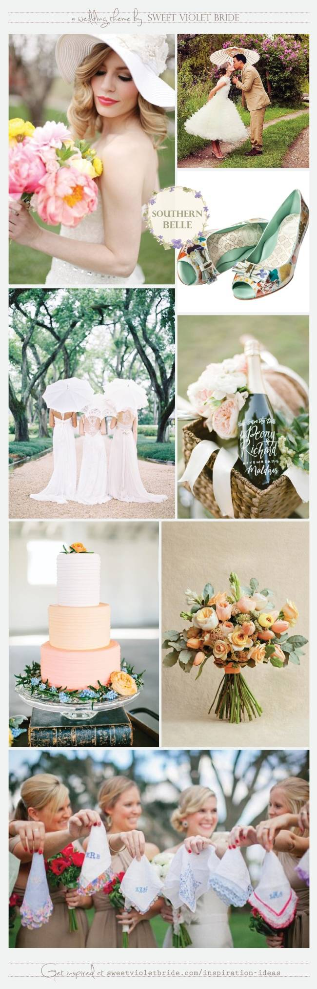 Wedding Inspiration Board #25: Southern Belle