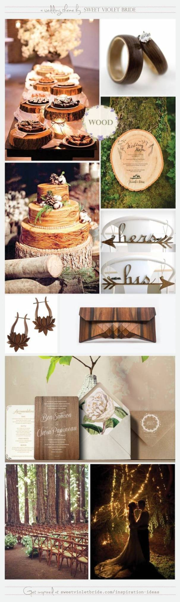 Wedding Inspiration Board #26: Rustic Wood