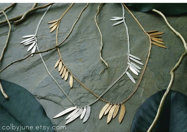 Wedding-Worthy Nature Inspired Necklaces 2