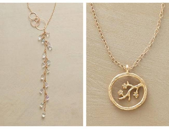 Wedding-Worthy Nature Inspired Necklaces 3