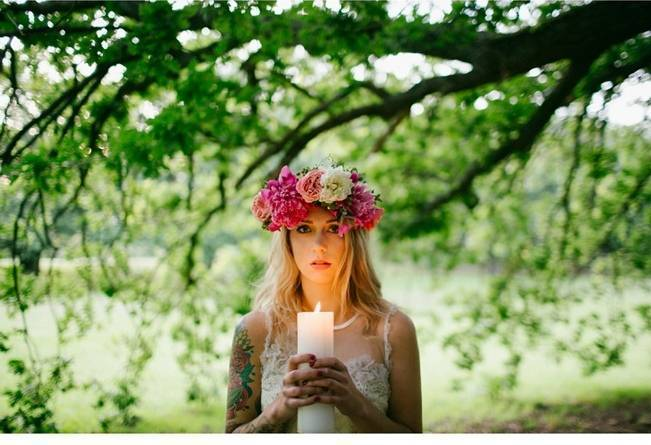 Woodland Floral Inspiration Shoot {Free The Bird Photography} 11