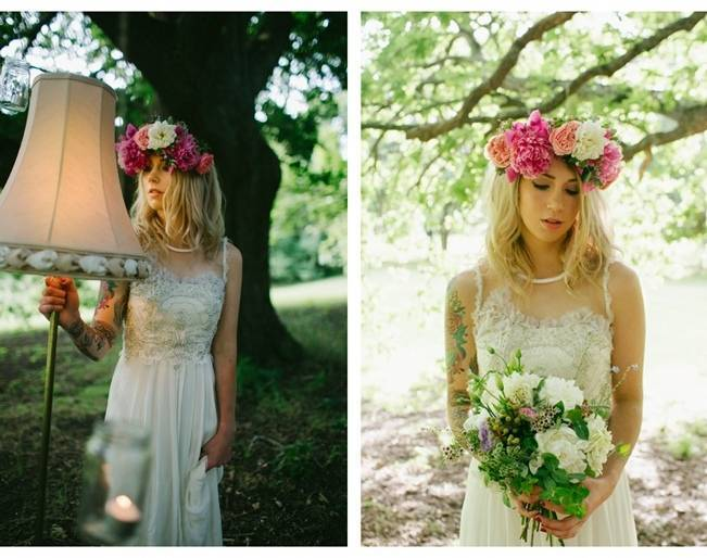 Woodland Floral Inspiration Shoot {Free The Bird Photography} 2