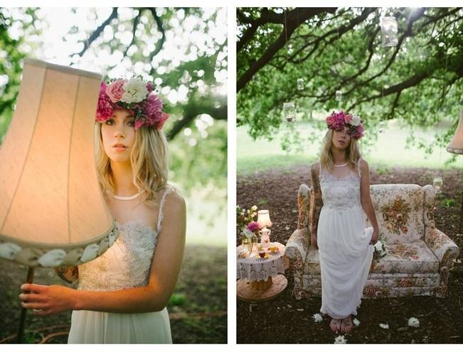 Woodland Floral Inspiration Shoot {Free The Bird Photography} 5