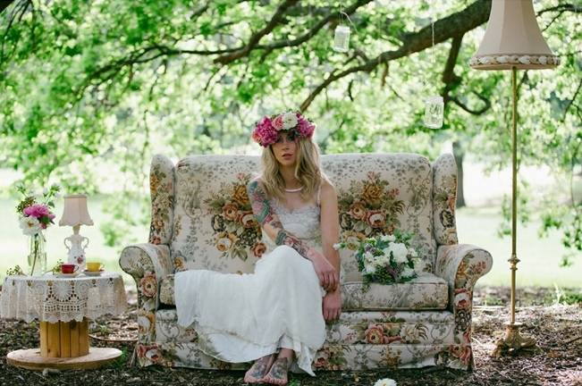 Woodland Floral Inspiration Shoot {Free The Bird Photography} 6