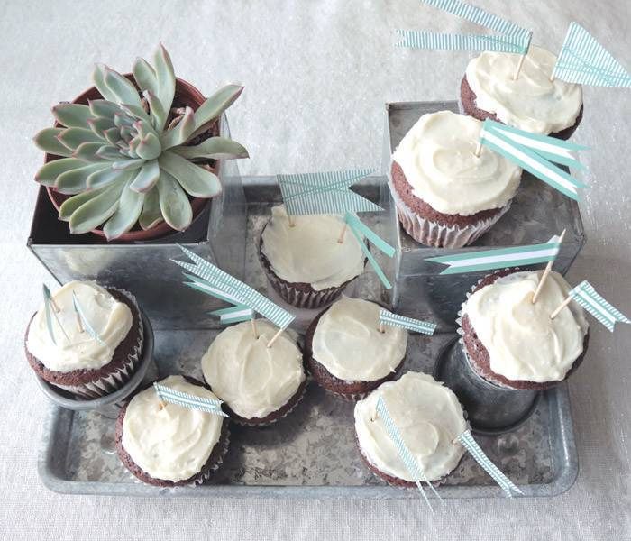 Flag-Topped Cupcakes