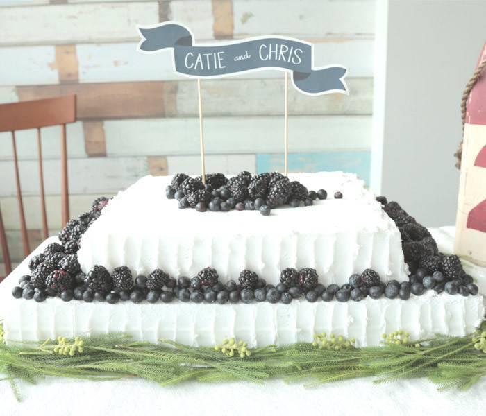 Berry Wedding Sheet Cake
