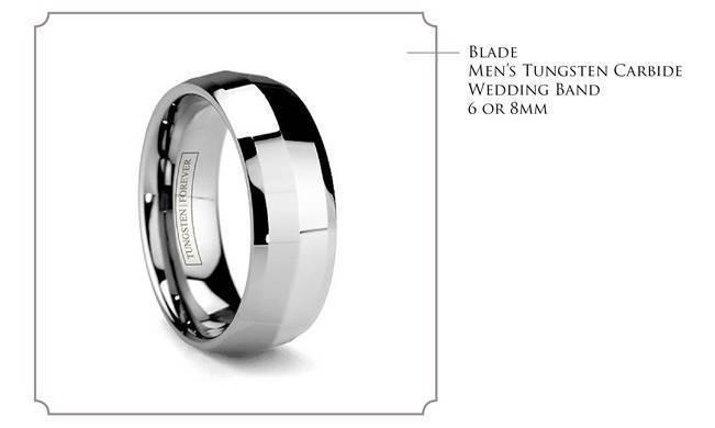 Blade - simple tungsten carbide wedding band