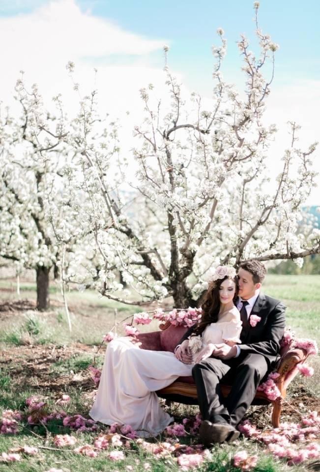 Blossoming Blush Orchard Elopement {Organic Album} 13