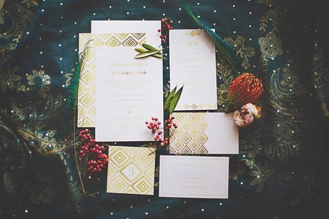 Bohemian Romance Styled Wedding {Cassandra Farley Photography}
