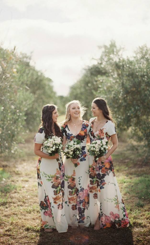 Floral Bridesmaid Dresses 10