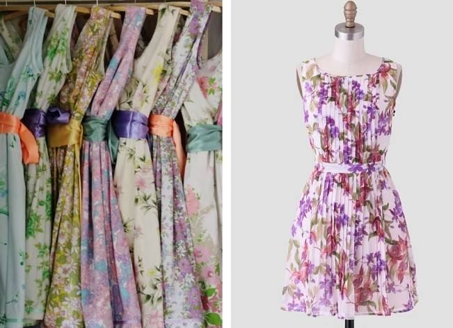 Floral Bridesmaid Dresses 4