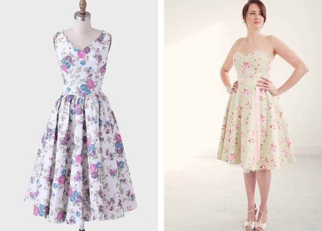 Floral Bridesmaid Dresses 6