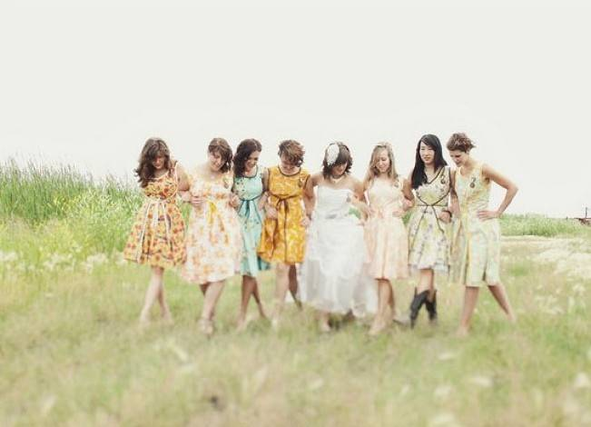 Floral Bridesmaid Dresses 7