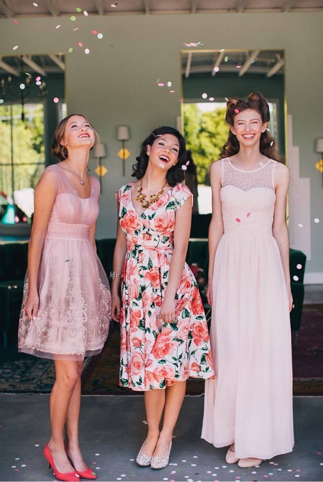 Floral Bridesmaid Dresses 8