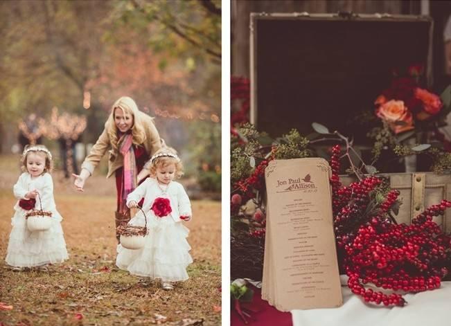 Red Autumn Rustic Wedding {Amy Zumwalt Photographers} 15