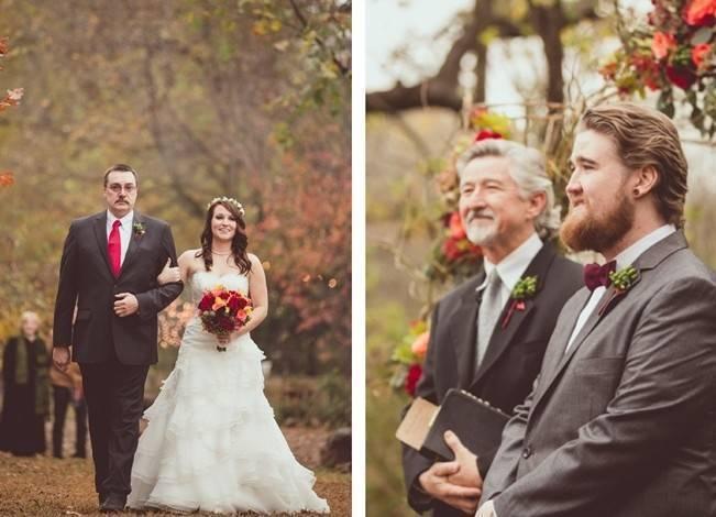 Red Autumn Rustic Wedding {Amy Zumwalt Photographers} 17